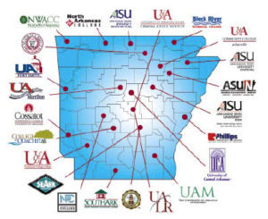 Map of Higher Education Degree Partners